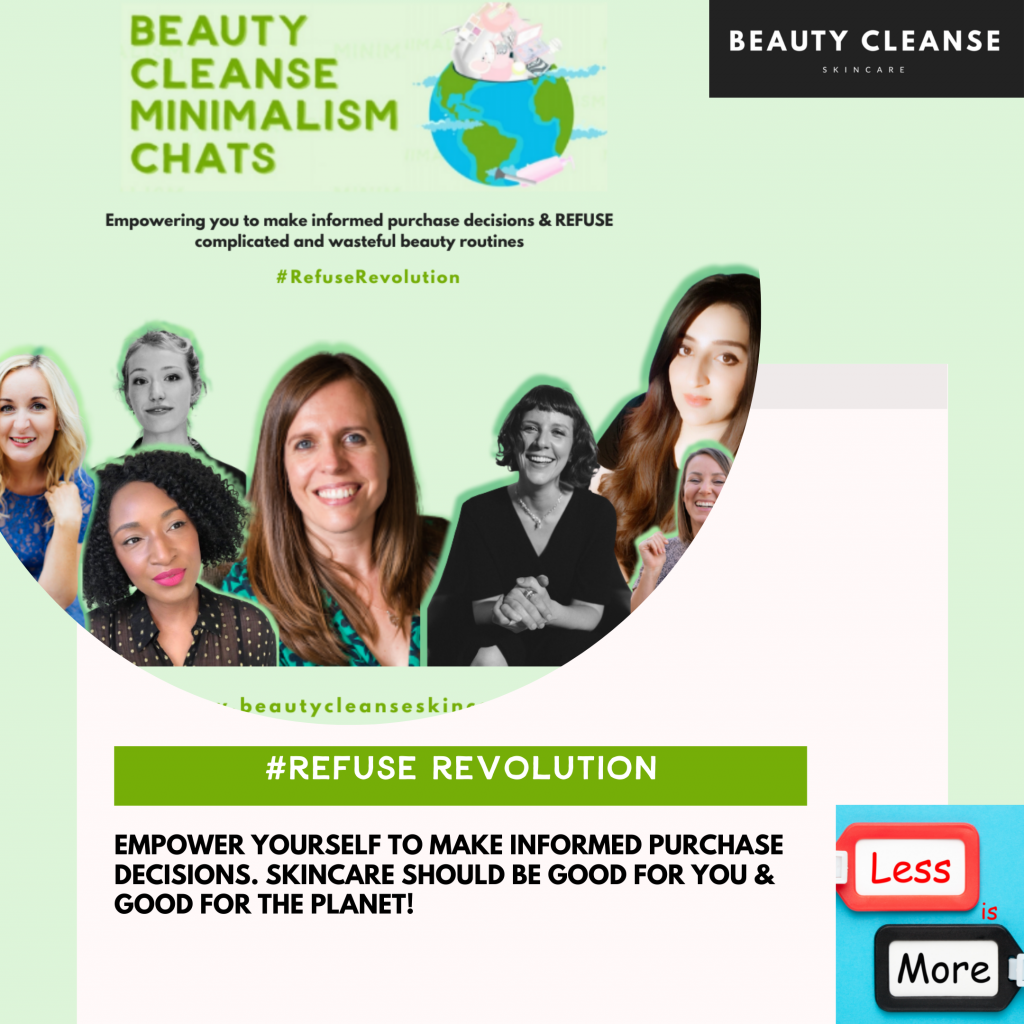 refuserevolution minimalism chats beauty cleanse skincare